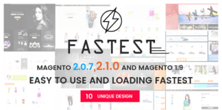 Fastest - Magento 2 themes & Magento 1.9 Multipurpose Responsive Theme (12 Design) Shopping,Fashion