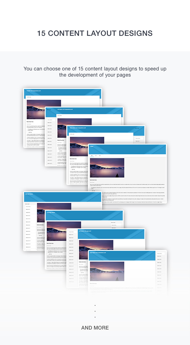 15 content layout design